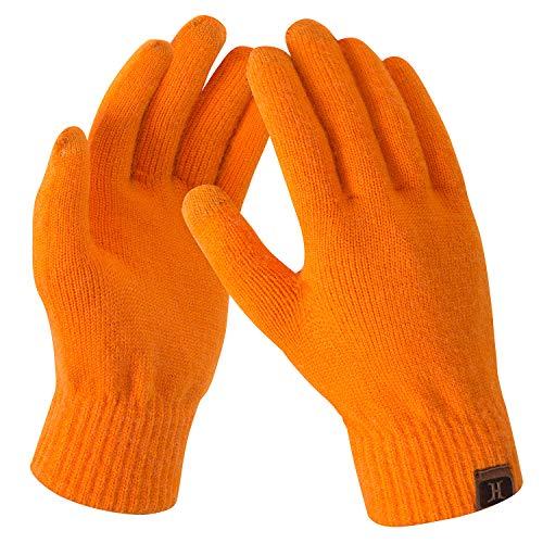 Bequemer Laden Damen Winter Warme Touchscreen Handschuhe Orange