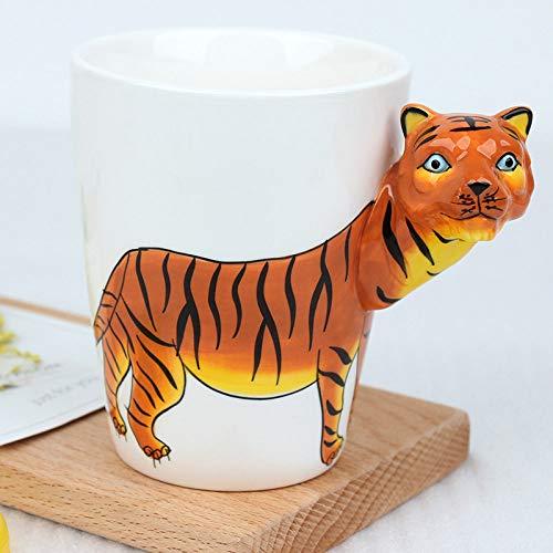 Caffè Latte Tazza Di Ceramica,Personalità Creative 3D Stereoscopico Tigre Cartoon Animale Tazze, Cioccolata Calda Tè Caffè Mug 400Ml Per Mattina Bere, Office Essentials Festa Di Compleanno Del