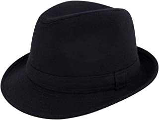 Mens Womens Short Brim Classic Manhattan Trilby Fedora Hat