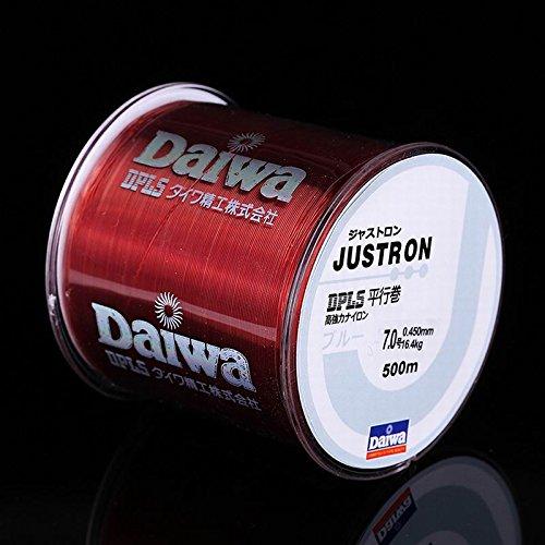 GDSZN Linea da Pesca in Nylon da 500 M Giapponese Monofilamento Durevole Rock Sea Fishing Line Daiwa Filo Bulk Bobina all Size 4 Colori da 0.4 A 8.0 2.5 Coffee Red