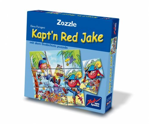 Zoch 601131800-Zozzle Memo Puzzle-Kapt 'n Red Jake by Noris Spiele