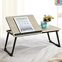bakaji tavolino vassoio da letto divano per notebook pc laptop pieghevole leggio 65x30cm, tavolino colazione da letto (nero)