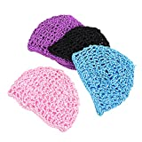 PIXNOR 4 Pcs Della Maglia Crochet Retina Per All' Uncinetto Rete di Protezione Della Rayon...