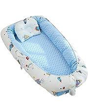 TEALP Cama Nido de Bebé Recién Nacido, Cuna de Viaje Portátil, Cuna para bebé recién nacido para 0 a 24 meses, cohete azul