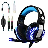 BlueFire Casque Gaming PS4, Écouteur Gamer Filaire avec Micro Basse Stéréo LED Lumière...
