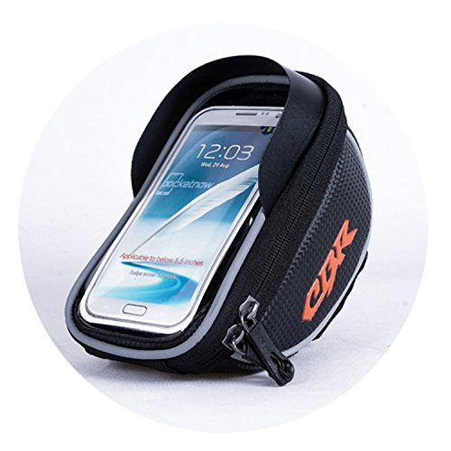 CBR Top Tube Waterproof Handlebar Bags Cycling Frame Bag Phone Mount Holder for iPhone 8/8 Plus/7/7S, Galaxy S7/S6/S6 Edge, Galaxy S5, Sony, LG, etc up to 5.5 inch