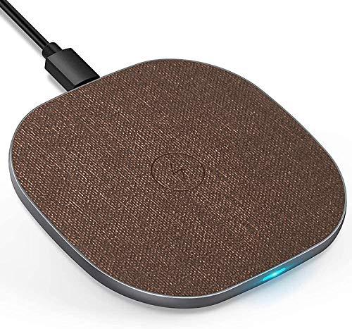 LUXSURE Fast Wireless Charger Qi Ladestation Kabelloses Schnellladestation, 7.5W für iPhone 12/11/11Pro/X/XS/XR/8/8Plus, 10W Für Samsung Galaxy S20/S10/S9/S8, Qi Ladestation für Huawei P40/P30 usw