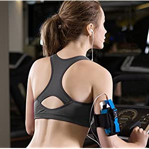 Fittin Womens Padded Sports Bras Wire Free with Removable Pads Pack of 3 Grey/Black/Aqua ,S