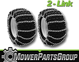 MowerPartsGroup A290 Snow/Mud Tire Chains 22x11x8/10 23x10/10.5x12 24x9.50x12 2-Link Pair