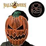 CONRAL Halloween LED Kürbis Maske, Scary Kürbis Maske mit 3 Modi Leuchten Blinkende Gesichtsmasken Kostüm Cosplay Outfits für Halloween Maskerade Party