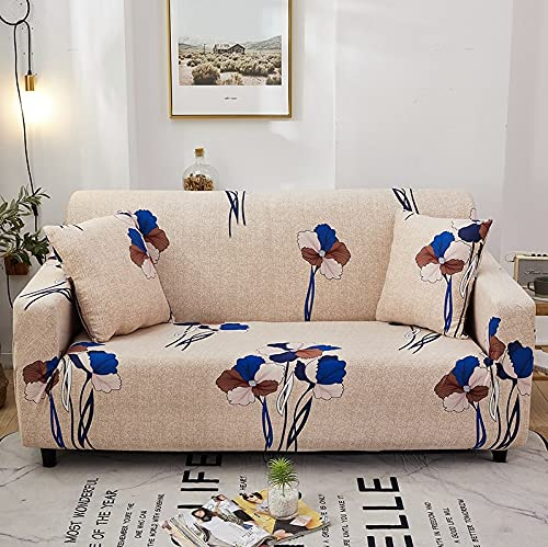 WXQY Funda de sofá geométrica para Sala de Estar para Mascotas en Forma de L Funda de sofá Chaise Longue Funda de sofá Todo Incluido Flexible A11 4 plazas