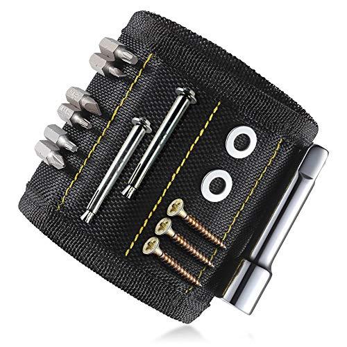Magnetische Armband, KIPIDA Starke Magnetarmband mit 10 leistungsstarken Magnetische für Schrauben, Holding Werkzeuge, Nägel, DIY, Bohren Bits und Kleinwerkzeuge - Best Vatertag Geschenk für Vater
