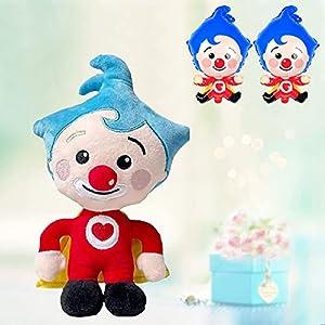 HKuoFGV 20cm / 7,87in Clown Plum plim Plum plim, Cartoon Animation Clown Peluche en Peluche en Peluche avec Ballon de Clown de 2pcs, pour Les Fans de Dessins animés garçon et Fille