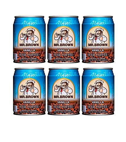 Mr. Brown Iced Coffee Vanilla Flavor (6 Pack, Total of 48.72fl.oz)