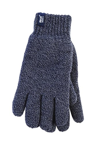 HEAT HOLDERS - Mens Heatweaver 2.3 tog Warm Thermal Gloves (Small/Medium, Navy)