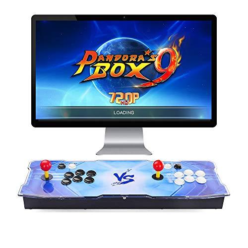 L&U Pandora's Box 9 Multiplayer-Joystick und -Tasten Arcade-Konsole, Arcade-Spielautomaten für zu Hause, 1660 Retro Classic-Videospiel, 10 3D-Spiele, kompatibel mit HDMI und VGA,Style1