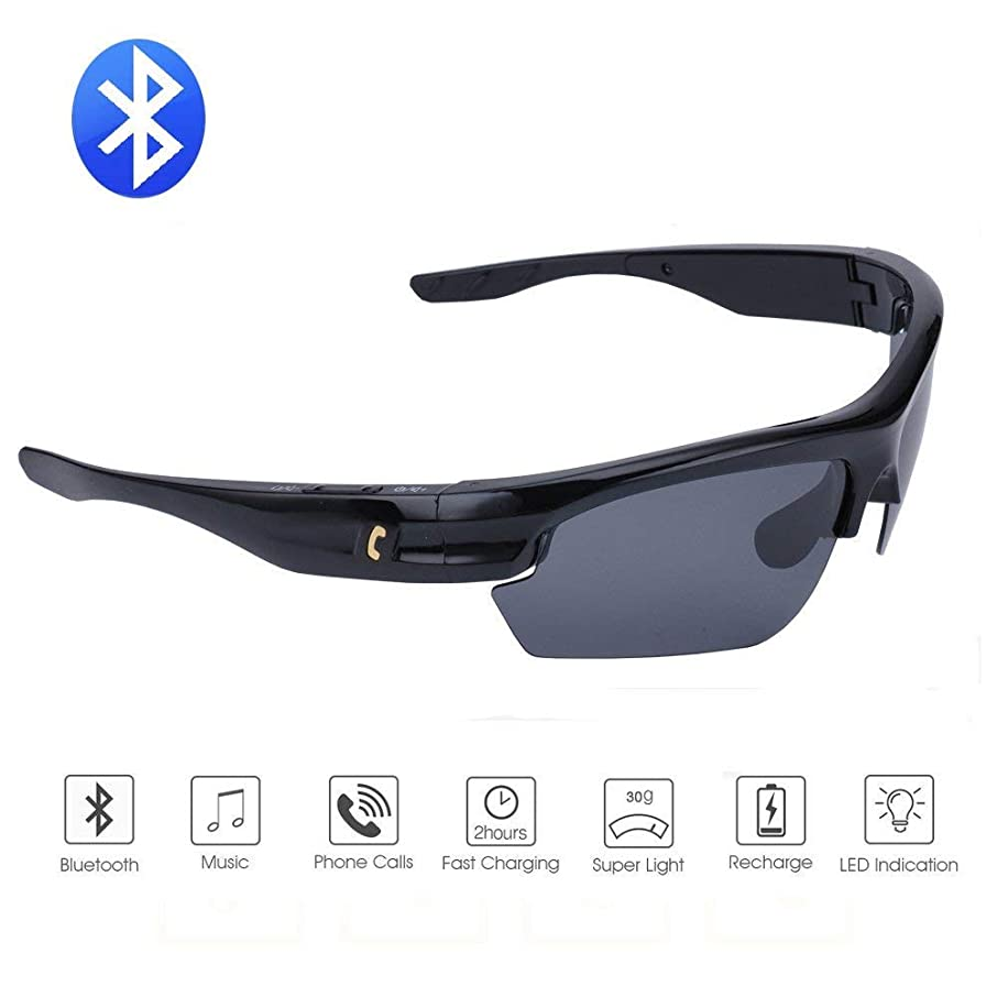 Bluetooth Sunglasses Lightweight Design Smart One Touch function with Wireless Stereo Bluetooth 4.1 Headset Headphones Polarized Glasses for Outdoor Activities