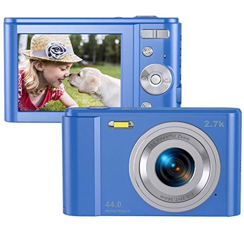 Digitalkamera, Foto Kamera 2,7K HD Mini-Taschenkamera, Rokurokuroku 44 Megapixel Digitale Videokamera