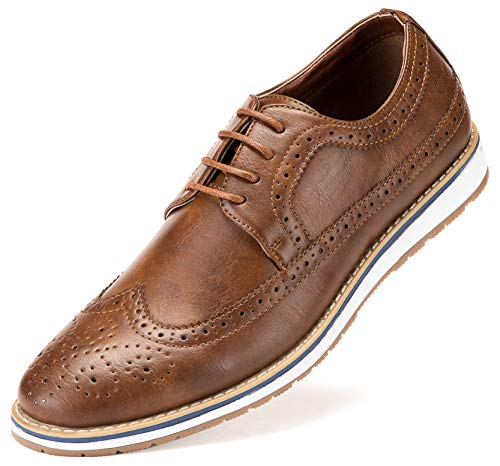 Mens Casual Shoes Classic Wingtip Oxford Business Dress Shoes for Men – in A Shoe Bag