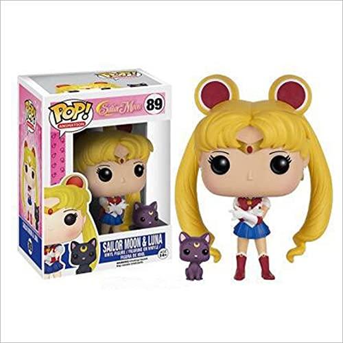 Pop Anime Sailor Moon & Luna # 89 Colección De Figuras De Acción Juguetes Modelo para Niños Regalos De Cumpleaños 10Cm