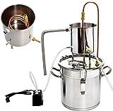 INTER FAST Inicio Destilador Construir-en el termómetro Destilador de Agua Kits Purificador de Agua Destilador Kit de Acero Inoxidable (8Gal / 33L) (Color : 5gal/20l)