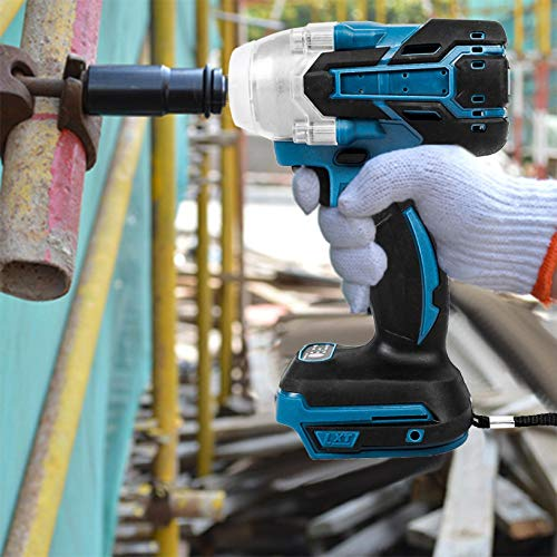Boddenly DTW285Z Cordless Impact Wrench Kit - 18V Powerful Cordless Brushless Impact Wrench,1/2'' 520Nm Impact Wrench Drill Tool,with Soft Comfortable Grip
