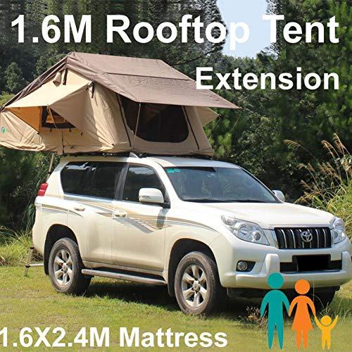 Qnlly Dach 3.1x1.6M Dachzelt für Wohnmobilanhänger 4WD 4X4 Camping Car mit Rack Ladder, Camping Zelt