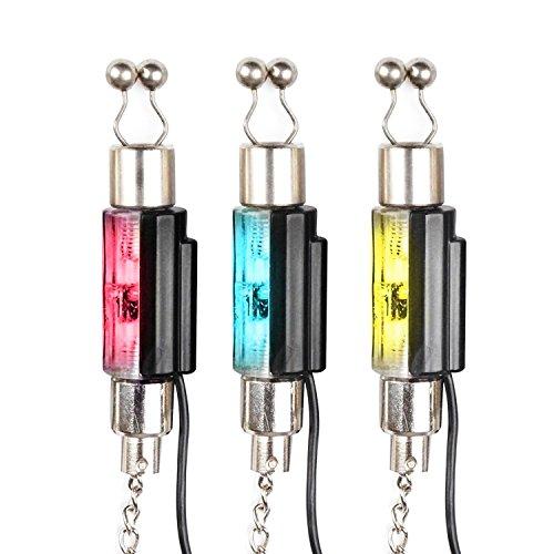 Discoball (Set of 3) Catena LED Swinger per Pesca Allarme Carpa Indicatore di Abboccata Grucce System