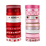 VATIN 20 Rolls 100 Yards Valentine's Day Ribbons Trims