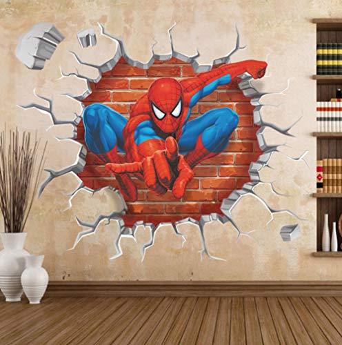 3d Wandtattoo Zeichentrickfilm Avengers Spiderman 40x50cm Wandaufkleber Schlafzimmer Wohnzimmer Küche Home Decoration Tapete