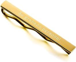 MeMeDIY El Tono De Plata Negro Oro Dorado Tono Acero Inoxidable Corbata Tie Clip Bar Pasador Alfiler - Grabado Personalizado