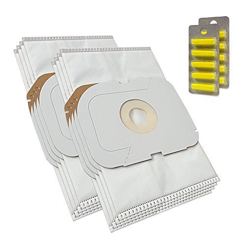 MohMus 8 Bolsas de aspiradora + 10 Ambientadores para Lux Electrolux Intelligence Royal Edition, Typ AP11, Staubcontainer Intelligence
