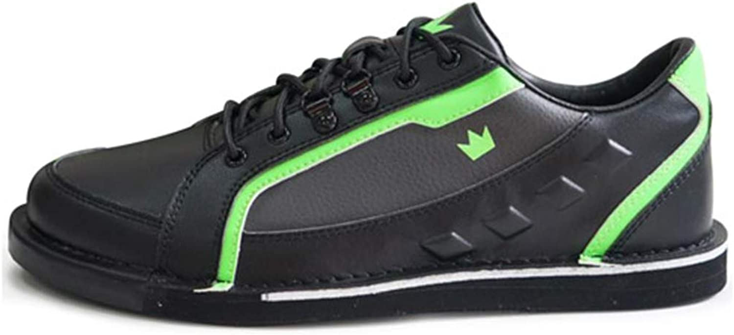 Brunswick Mens Punisher Bowling shoes Right Hand Wide- Black Neon Green