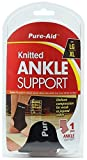 Pure-Aid Knitted Ankle Support (LG-XL) (Pack of 2) Ankle Compression Sleeves for Arch support, Foot & Ankle Swelling, Injury Recovery, Heel Spurs