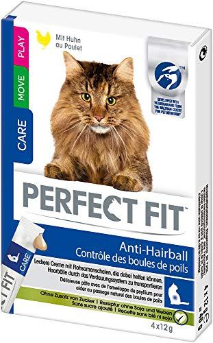 Perfect Fit kattensnacks kattenlekker, anti-hairbal tegen haarballen - romige snack om uit de hand te voeden met kip, 44 stuks (11 x 4 stuks)