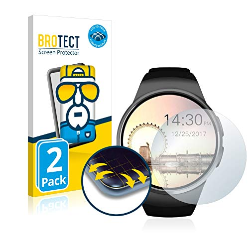 BROTECT Full-Cover Schutzfolie kompatibel mit Evershop Bluetooth Smartwatch (1.5