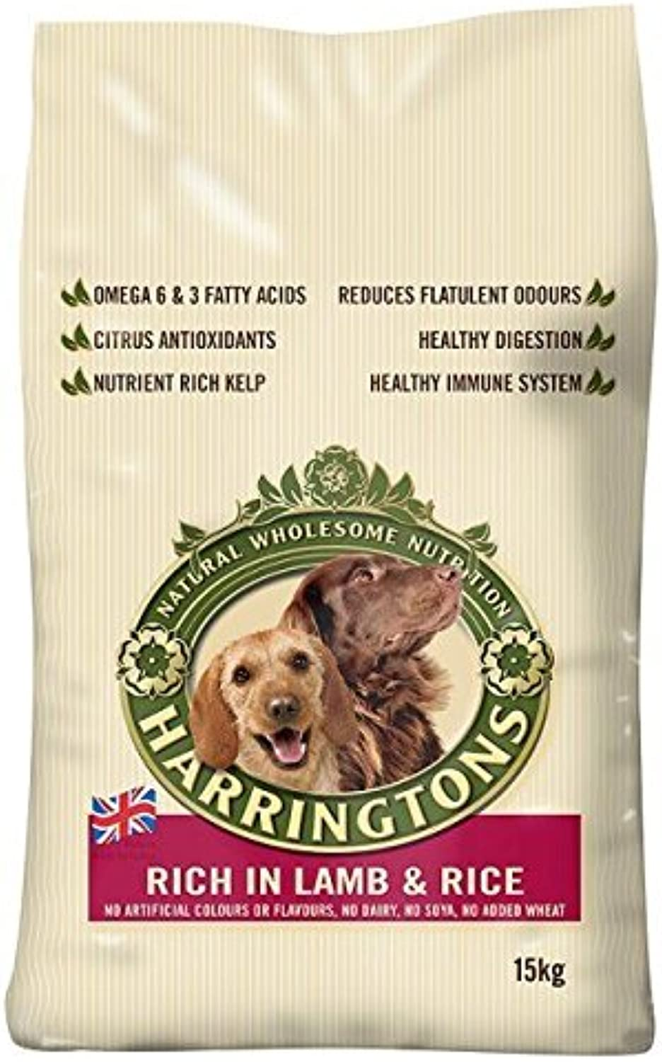 Harringtons Dog Complete Lamb & Rice 15kg (PACK OF 2)