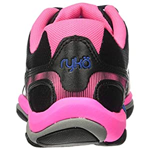 Ryka Women's Influence Cross Training Shoe, Black/Atomic Pink/Royal Blue/Forge Grey, 9 M US