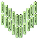 RELIGHTABLE AA NiMh 600mAh 1.2V Rechargeable Batteries for Solar Garden Lights (Pack of 20)