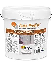 TECPINT SÚPER de Tecno Prodist - (BLANCO) Pintura para Exterior e Interior al Agua - Gran cubrición y blancura- Lavable - Fácil Aplicación