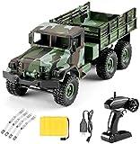 WANGCH 1:16 Modelo Control remoto Camión del ejército Vehículo todoterreno Coche de control remoto Alta velocidad Tracción en las cuatro ruedas 2.4G Control remoto Modelo de carreras Juguete de regalo
