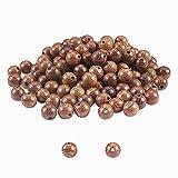 PandaHall 500pz Perline di Legno Rotonde 8mm Perline di Legno Marrone Scuro Distanziatori Rotondi Perle di Legno Artigianali assortite per bracciali, bricolage e Collana di Perline macramè