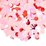 Colors: Pink, Fuchsia, and Red Features assorted metallic red, fuchsia, and pink matte colored confetti 4 ounce bag; 1 inch diameter confetti circles Use to decorate tables, table scatter decor, insides of balloons, party favors or gift box fillers G...