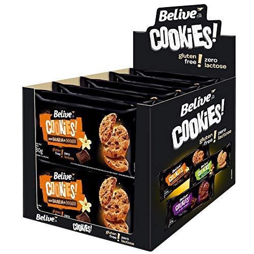 Display Cookie Baunilha e Chocolate sem Glúten sem Lactose Belive 10 Unidades de 80G