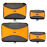 PRO Packing Cubes for Travel – Mesh, Ultralight Packing Cubes Set of 4 Pieces - YKK Zippers, Hi-Tech Nylon Fabric - Travel Luggage Packing Organizers for Backpack, Luggage, Carry-on, Suitcase