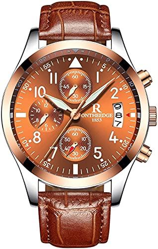 QHG Reloj de Pulsera de Cuarzo analógico para Hombre Reloj de Pulsera analógica numérica Romana (Color : FX-3)