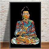 ZLARGEW Bunte Drachentätowierung Buddha Zazen Religion