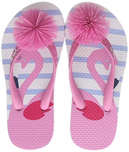 Tom Joule Mädchen Flip Flop Zehentrenner, Blau (White Flamingo Whtflmingo), 31 EU