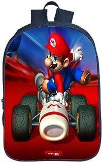 QWEIAS Mochila para niños - Super Mario Bros 3D Toddler Kids Mochila Escolar para niños pequeños - 16 Pulgadas Rucksack para 3-12 años – Regalo J