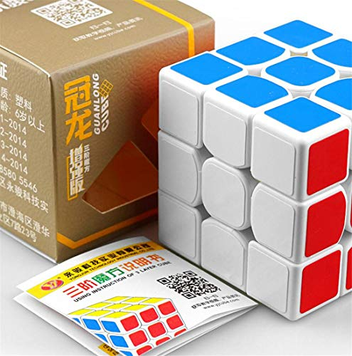SUNMUCH Speed Cube 3x3 Smooth Magic Cube Puzzles weiß